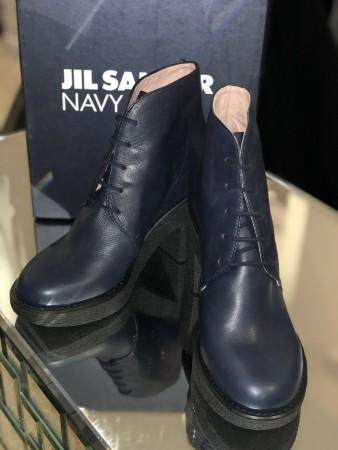 Stivaletti blu Jil Sander navy