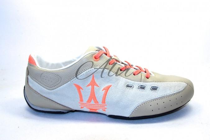 Sneakers uomo Maserati beige/bianco