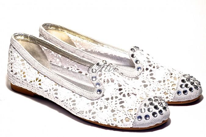 Pantofole Pluspartout in tricot bianco