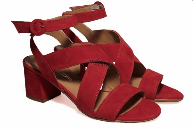 Sandali rossi tacco medio