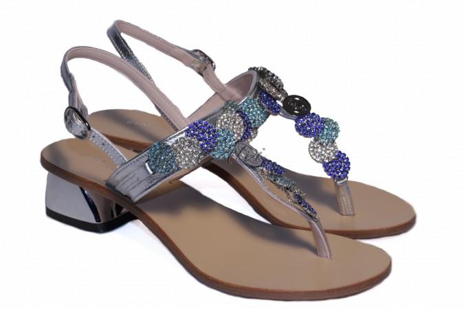 Sandali capri argento