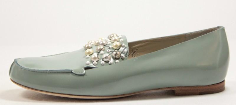 Mocassino Chloé azzurro acqua perle
