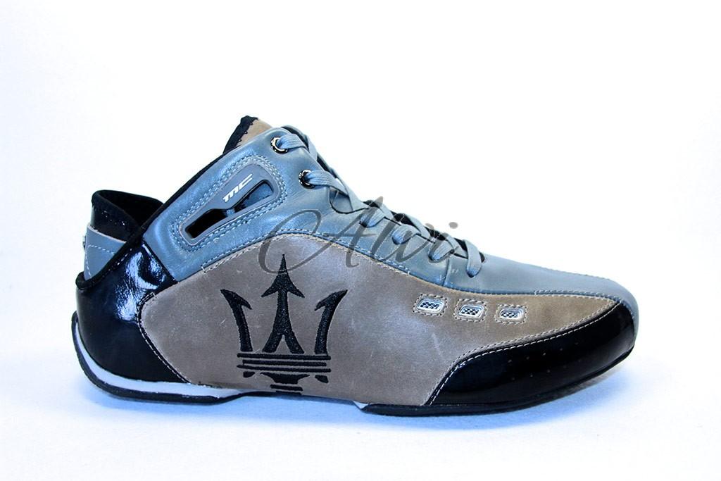 new product 6472c c773a Sneakers uomo Maserati bicolore nero/marrone