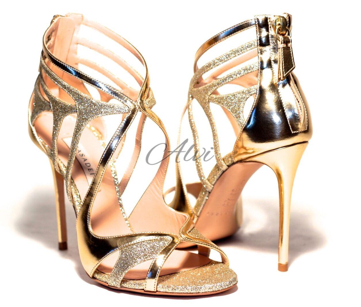 Sandali eleganti oro glitter Casadei c7a9a206146
