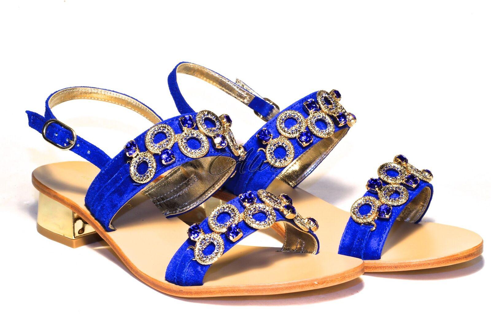 Gioiello Tacco Elettrico Medio Sandali Blu CxhtsQrd