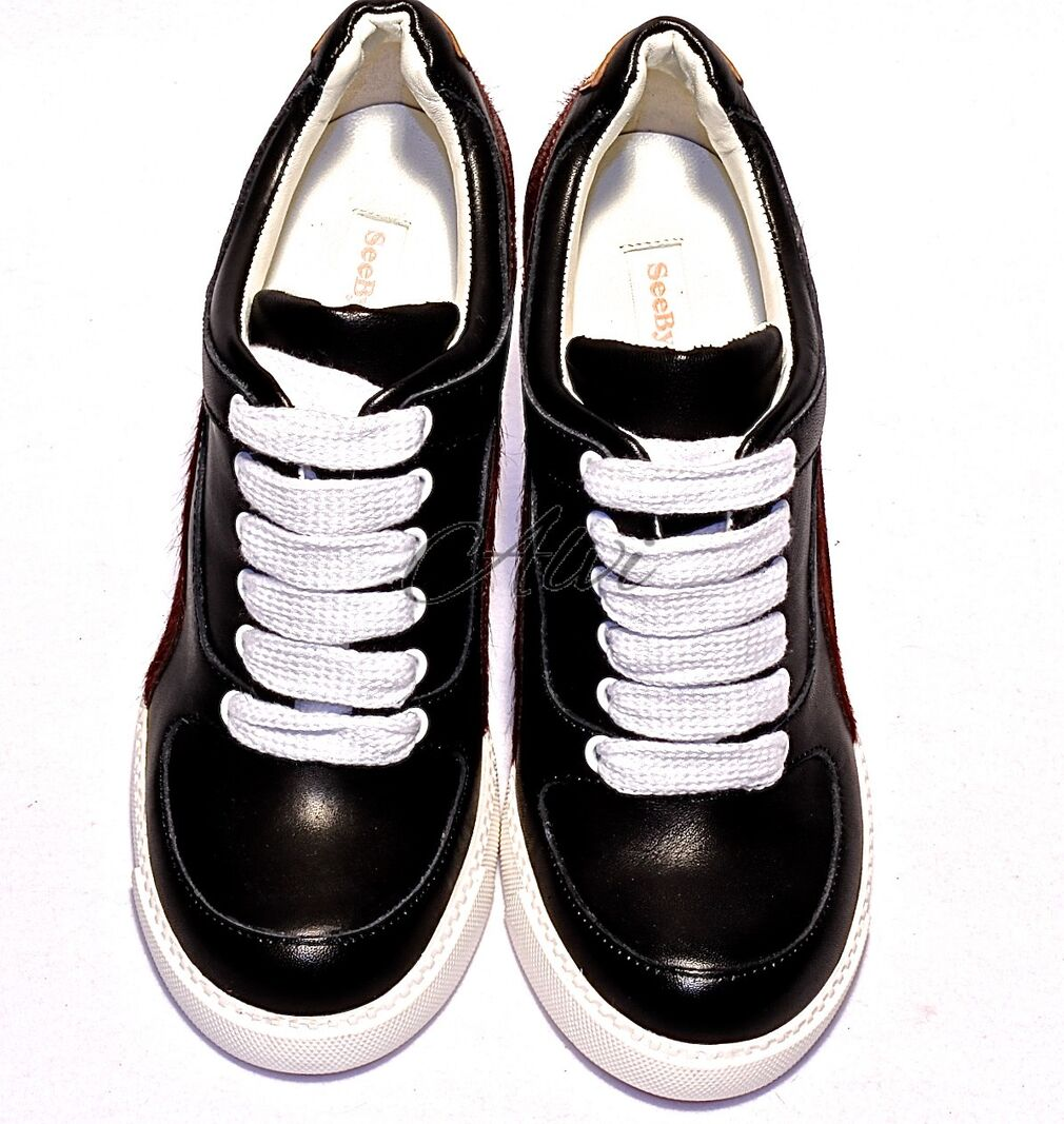 fcbab93a0e Sneakers con zeppa See by Chloé nere