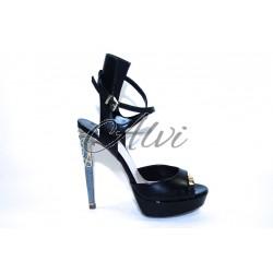 Sandalo Twi... nero con tacco a spillo
