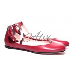 Ballerine rosso ciliegia Marc Jacobs con cinturino