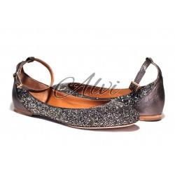 Ballerine stile romantico Chloé con glitter