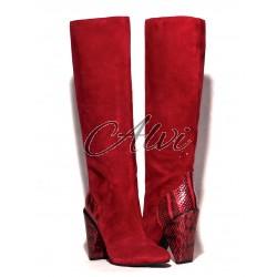 Stivali See by Chloé rossi con rettile