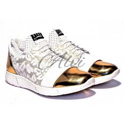 Sneakers Stau pizzo e oro