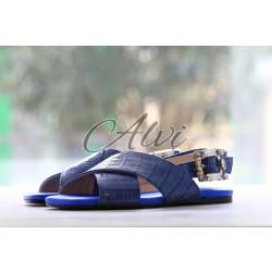 Sandali blu elettrico Anna Baiguera