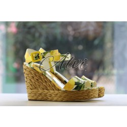 Sandali Dolce & Gabbana fantasia limoni