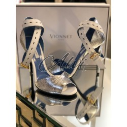 Sandali argento Vionnet