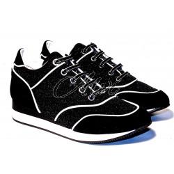 Sneakers Max Mara nere glitter