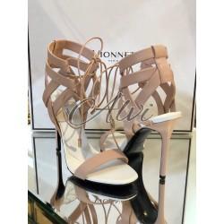 Sandali eleganti rosa cipria
