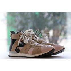 Sneakers pink beige Vionnet