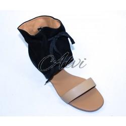 Sandalo See by Chloè nero con cavigliera