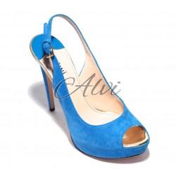 Sandalo Twi..bluette tacco a spillo e plateau