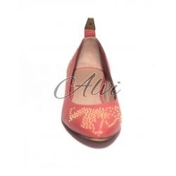 Ballerine Chloé linea Susanna color rosa salmone con borchie oro