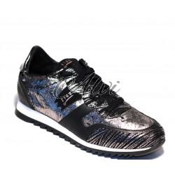 Sneakers Stau nere e oro antico