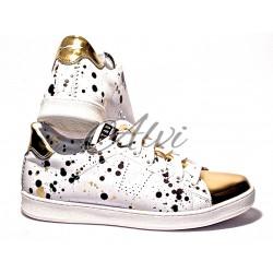 Sneakers Stau bianche e oro