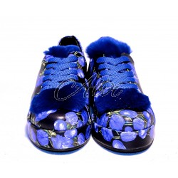 Sneakers Roberto Serpentini fantasia bluette