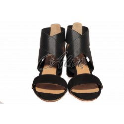 Sandali neri elastico