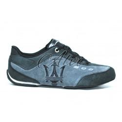 Sneakers Maserati uomo nere e grigie con logo