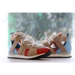 Sneakers Vionnet azzurre rosse