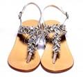 Sandali infradito argento