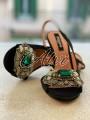 Sandali Rochas pietra smeraldo